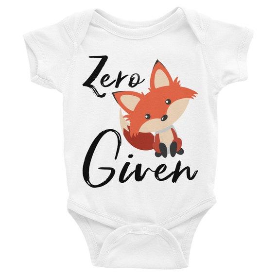 Zero Fox Given Cute Baby Onesie ® , Cute Fox, Fox Sake Bodysuit, Oh for Fox Sake, Zero Fox Given Shirt, Fox Onesie, Fox Baby Clothes, Boho