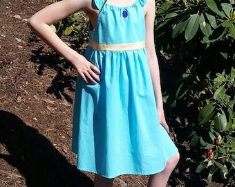Jasmine Dress - Princess Jasmine Inspired Dress - Aladdin Dress - Cotton Play Dress - Princess Jasmine Disneybound - Girls Jasmine Costume
