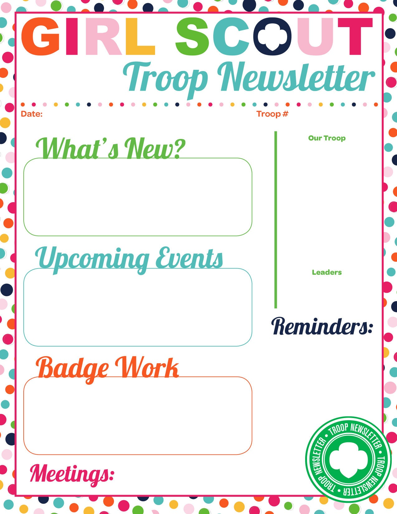 scout certificates template - girl scouts troop newsletter template iamgirlscouts
