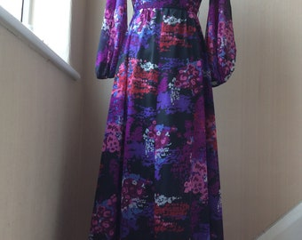 Vintage Berketex women's maxi dress