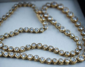 Vintage Sterling Silver Necklace Chain 925 CA necklace gold vermiel choker cz clear Art Deco Jewelry night out run way wedding  st13