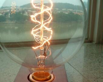 1 Antique super large vintage edison bulb 40w 220v radiolight AP125B squirrel cage lamp Filament light