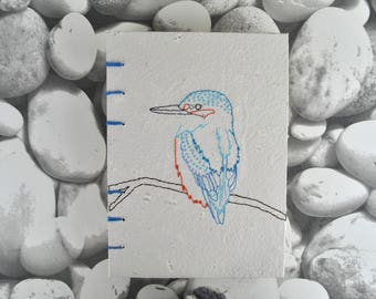 Coptic Stitch Kingfisher Notebook Journal