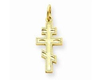 Eastern Orthodox Cross Charm (JC-1093)