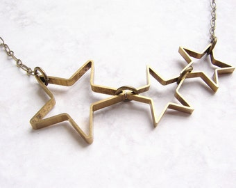 Star necklace, shooting star necklace, modern geometric necklace, gift for her, gift for best friend gift for teen girls