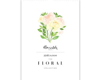2018 Floral Watercolour Calendar