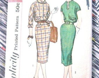 SALE 20% OFF Vintage 60s Simplicity 2619 Sewing Dress Pattern  Bust 32 inches