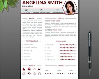 Resume Template Cover Letter Portfolio Modern Template