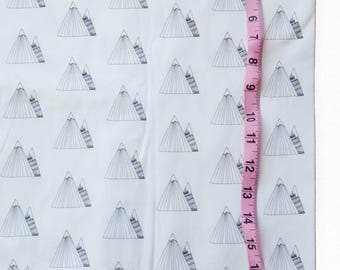 Organic Cotton Knit Modern Mountains Fabric by the Yard, 50% OFF