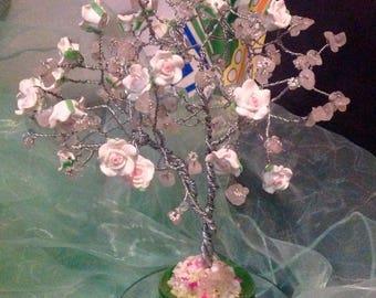 Rose Quartz with roses