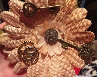 Steampunk pinup flower