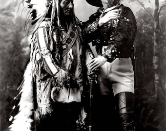 "Sitting Bull and ""Buffalo Bill"" Cody in 1885 - 5X7, 8X10 or 11X14 Photo (DA-703)"