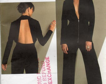 Vogue V2937, Guy Laroche, Vogue Paris Original, Misses' Jacket & Pants Pattern, Size B, 8, 10, 12