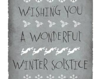 A Wonderful Winter Solstice greetings card