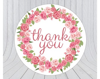 Thank you stickers, thank you labels, packaging stickers, packaging labels, wedding stickers, 149