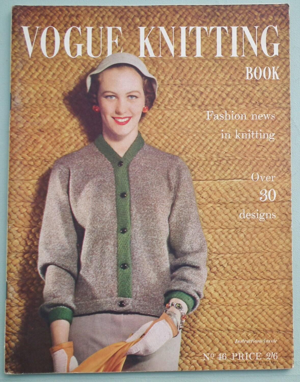 Vogue Knitting Book No. 46 - Vintage Knitting Patterns 1950s Women\'s ...