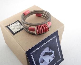 Red and beige bracelet