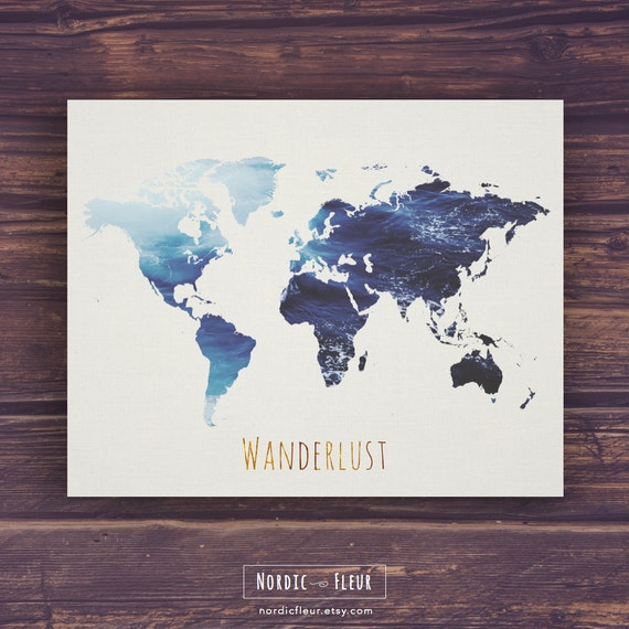 World map wall art wanderlust printable art world map print world map wall art wanderlust printable art world map print fernweh world map poster canvas travel map globe instant download sciox Image collections