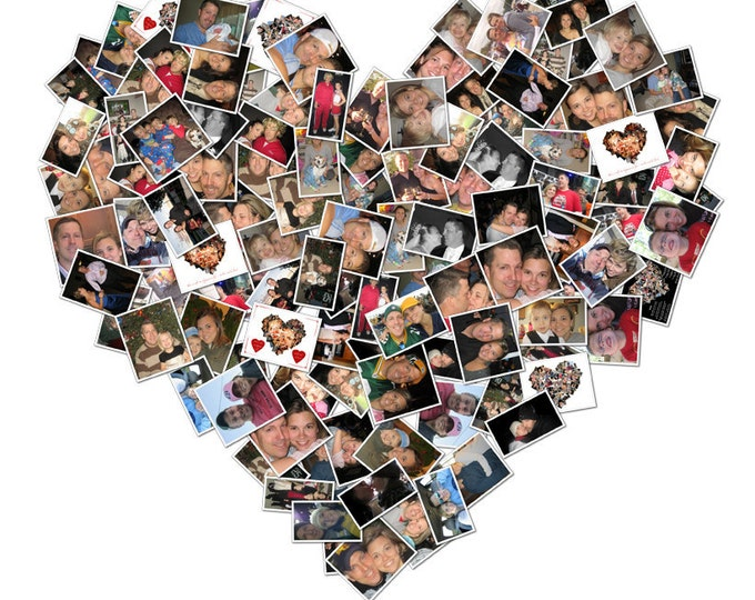 Heart Collage Photo Gift Valentines Day Gift For Boyfriend Heart Shape Gift Mosaic Collage Picture Gift Wall Art Gift For Her 16x20