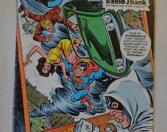 Superman Comic Book DC, 1980, Compliments of Radio Shack
