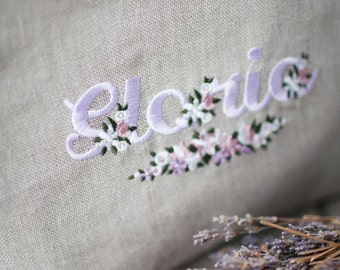 Beauty case brings embroidered name tricks