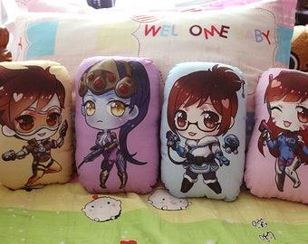 Tracer, Widowmaker, Mei, Dva - Overwatch - Pillow Plushies