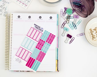 Cute planner stickers, bullet journal stickers, to do lists, payday stickers, header sticker, bill due, appointment stickers, bullet journal