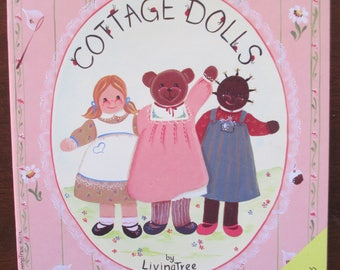 """Folk Art Decorative book """" The  Cottage   Dolls"""" by Pamela Publications 34 pages 1985 used book"""