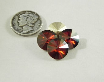 Swarovski 1122 Red Magma F Various Sizes Rivoli Stones
