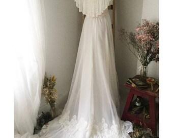 Vestido de tul de encaje vintage