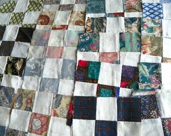 42 Quilt Blocks 9 Patch Pattern Quilt Top Patchwork