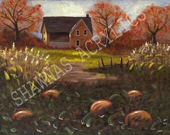 Acrylic Painting Pumpkin Patch