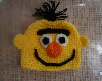 Baby or toddler yellow sesame like hat   0-6mth to 18mth same price  Toddler sizes also available.