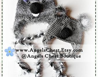 PDF PATTERN Cute Hand Crochet KOALA Bear Hat Newborn to Adult Size Boutique Design - No. 30 by AngelsChest