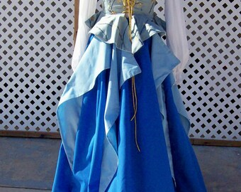 Medieval/Renaissance skirt with flounces- Made to Order