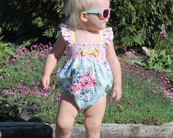 Scarlett's Sun Suit. PDF sewing pattern for Baby sizes Newborn - 3t.