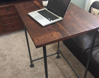 Standing, Standing Desk, Desk, Industrial Desk, Reclaimed Wood Desk, Wood  Desk
