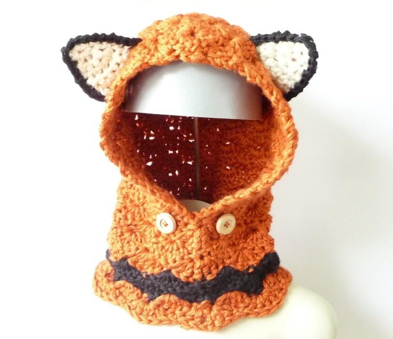 Crochet Pattern Hoodie Cowl Crochet Pattern Chunky Hood