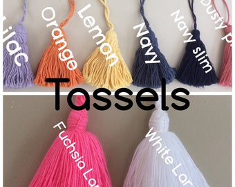 TASSELS Choose your Colour, for my Baskets ONLY. NOT sold separately.