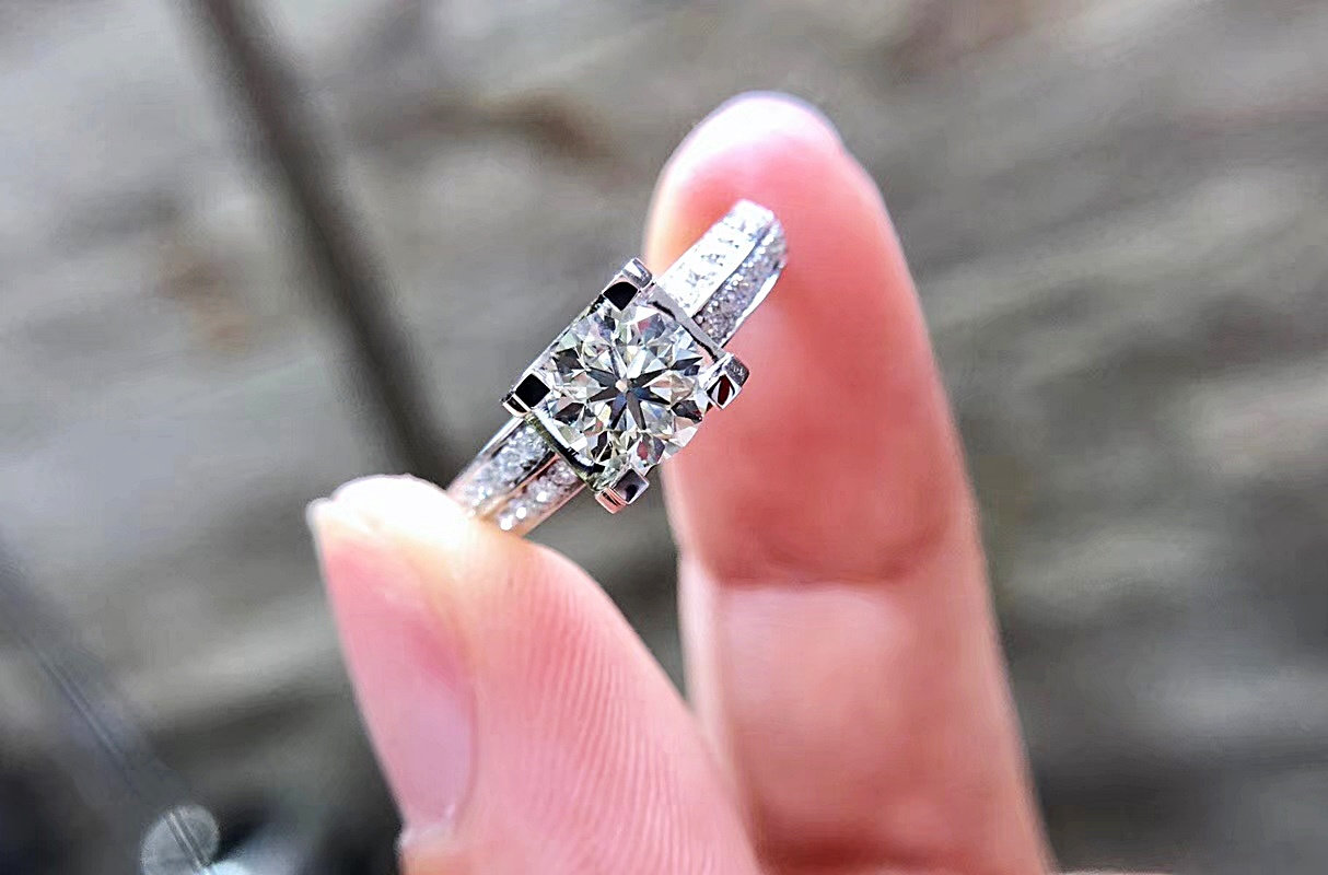 1 Carat Tension Set Engagement Ring / Promise Ring for her