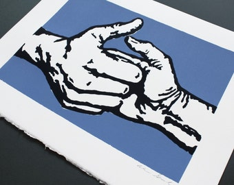 Thumb Wrestling Limited Edition Screenprint