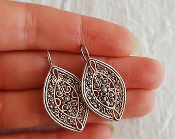 Mandala Shield Earrings