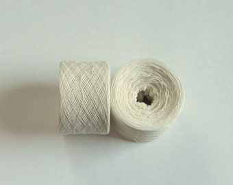 ANTIQUE WHITE 100% Silk 4912 yards recycled yarn