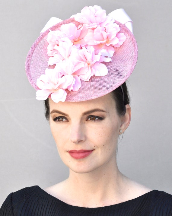 Pink Derby Hat, Kentucky Derby Fascinator, Wedding Hat, Wedding Fascinator, Fascinator hat, Formal hat