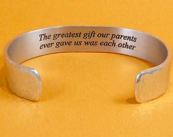 READY TO SHIP ~ Sister Birthday Gift / Brother Gift / Sister Gift- The greatest gift our parents ever gave us was each other ~ Birthday Gift