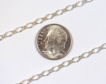 La chaîne Figaro 1:1 - argent Sterling - SS005 - Made in Italy