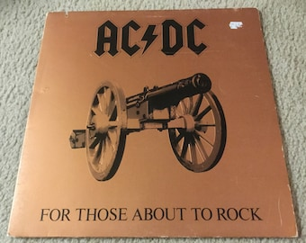 AC/DC For Those About To Rock Vinyl Record LP