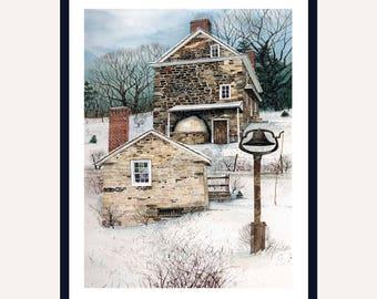 John Chadd House Print || Watercolor Print