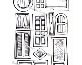 There's Always A Door Coloring Page Digital Download