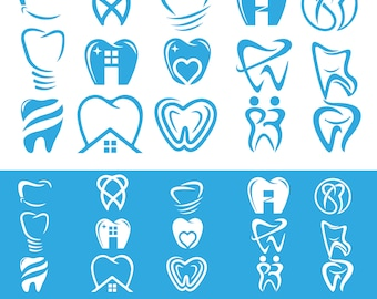Dental logo set